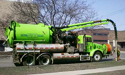vactor truck used for vacuuming